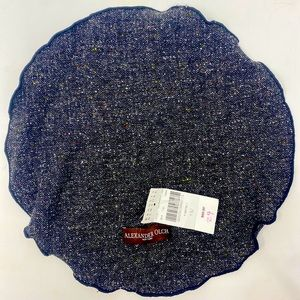 Alexander Olch Pocket Square / Round NWT Charcoal